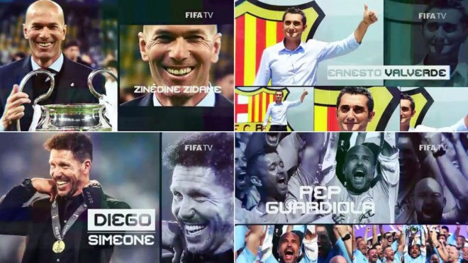 Diario Frontera, Frontera Digital,  TÉCNICOS NOMINADOS A THE BEST, Deportes, ,Zidane, Valverde, Simeone y Guardiola, 