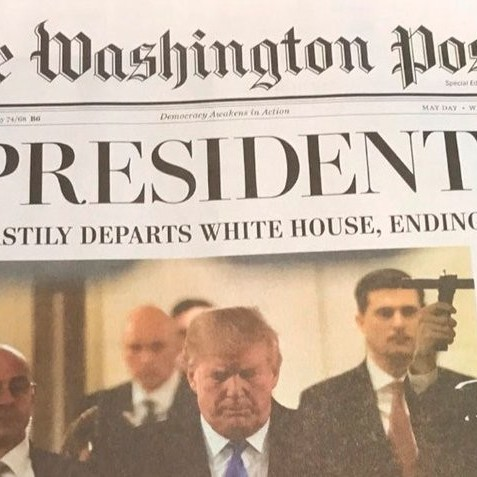 "Diario Frontera, Frontera Digital,  Washington Post, Internacionales, ,Edición falsa del ""Washington Post"" 