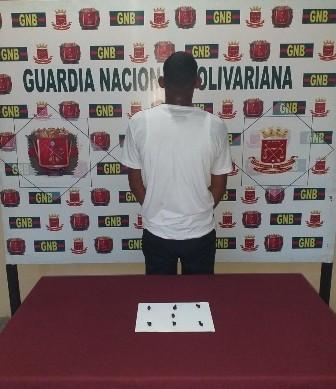 Diario Frontera, Frontera Digital,  EL VIGÍA, Sucesos, ,Durante labores de patrullaje la GNB  detiene en El Vigía a ciudadano con 7 mini-envoltorios de base de cocaína