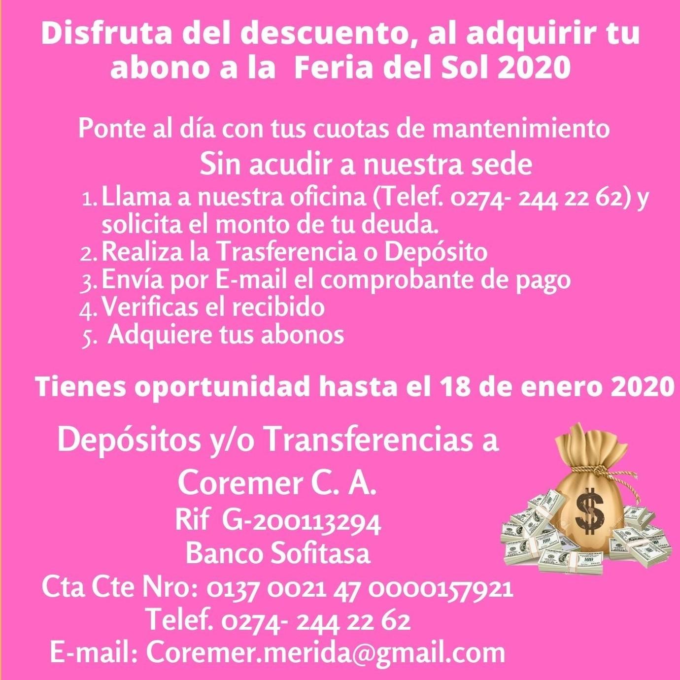 Diario Frontera, Frontera Digital,  COREMER, Regionales, ,Accionistas de Coremer pueden adquirir  abonos preferenciales para la FIS hasta el 18 de enero