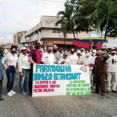 Diario Frontera, Frontera Digital,  COP'EI EL VIGÍA, Panamericana, ,COPEI DE EL VIGÍA APOYÓ A LOS EDUCADORES DONDE EXIGIERON SALARIO AL GOBIERNO NACIONAL