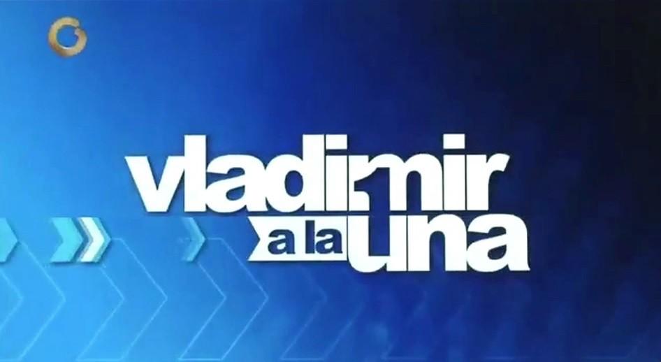 Diario Frontera, Frontera Digital,  VLADIMIR A LA UNA, Farándula, ,Vladimir a la 1 regresa este lunes a Globovisión