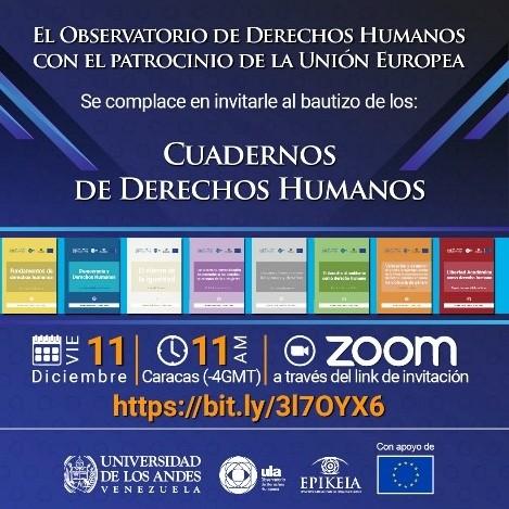 Diario Frontera, Frontera Digital,  ODH ULA, Regionales, ,ODH-ULA bautiza sus primeros Cuadernos de Derechos Humanos