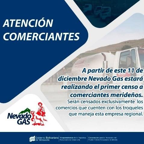 Diario Frontera, Frontera Digital,  NEVADO GAS, Regionales, ,Nevado Gas realizará primer censo a  comercios merideños