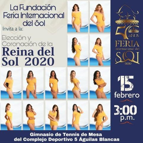 Diario Frontera, Frontera Digital,  FERIA INTERNACIONAL DEL SOL, Regionales, ,Ferisol invita a los merideños a la Elección de la Reina del Sol 2020