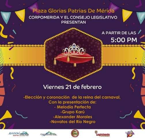 Diario Frontera, Frontera Digital,  ELECCIÓN REINA DEL CARNAVAL MÉRIDA 2020, Regionales, ,Hoy eligen Reina del Carnaval 2020 en Mérida