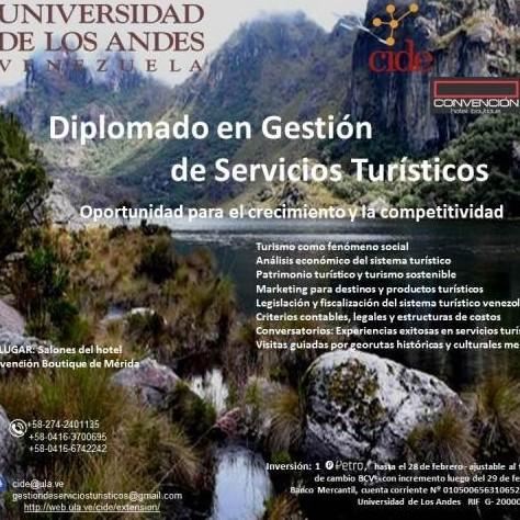 Diario Frontera, Frontera Digital,  ULA, Regionales, ,Cide presenta una nueva edición del Diplomado en Gestión de Servicios Turísticos