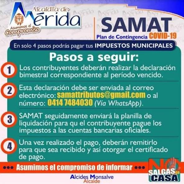 Diario Frontera, Frontera Digital,  ALCALDÌA DE LIBERTADOR, Regionales, ,Samat activó plan de contingencia ante Covid-19