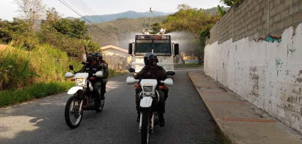 Diario Frontera, Frontera Digital,  DESINFECCIÓN, GNB, Regionales, ,GNB mantiene plan de desinfección en el estado Mérida