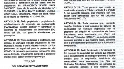 http://fronteradigital.com.ve/Hasta 10 mil UT pagarán quienes  incumplan medidas preventivas del COVID-19