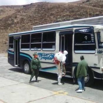"Diario Frontera, Frontera Digital,  MUNICIPIO RANGEL, Páramo, ,Bomberos desinfectan unidades de la línea de transporte ""Cultura"""
