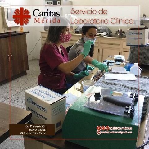 Diario Frontera, Frontera Digital,  CÁRITAS MÉRIDA, Regionales, ,Más de 1000 pacientes atendidos  por laboratorio de Cáritas Mérida en cuarentena