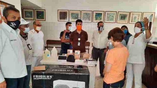 http://fronteradigital.com.ve/Corposalud dotó al Hospital II El Vigía  de insumos y equipo de  acondicionador de aire