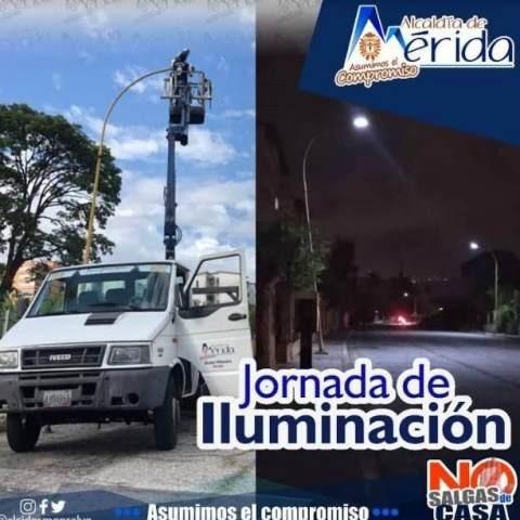 Diario Frontera, Frontera Digital,  PARQUE ALBARREGAS, MÉRIDA, LUMINARIAS LED SOLAR, Regionales, ,Alcaldía de Mérida iluminó el urbanismo  Parque Albarregas en las Américas