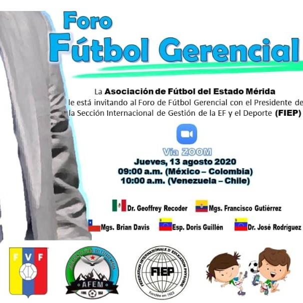 "Diario Frontera, Frontera Digital,  ASOFÚTBOL MÉRIDA, VENEZUELA, Deportes, ,Foro ""Fútbol Gerencial"" programa Asociación de Fútbol de Mérida"
