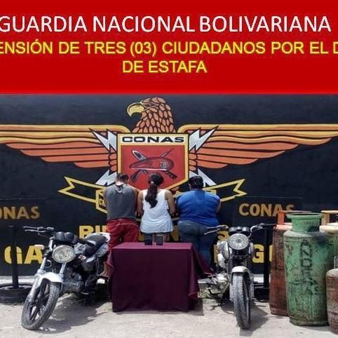 Diario Frontera, Frontera Digital,  CONAS, Sucesos, ,CONAS APREHENDIÓ A TRES PERSONAS CON CINCO BOMBONAS DE  GAS EN SANTA  BÁRBARA DEL ZULIA