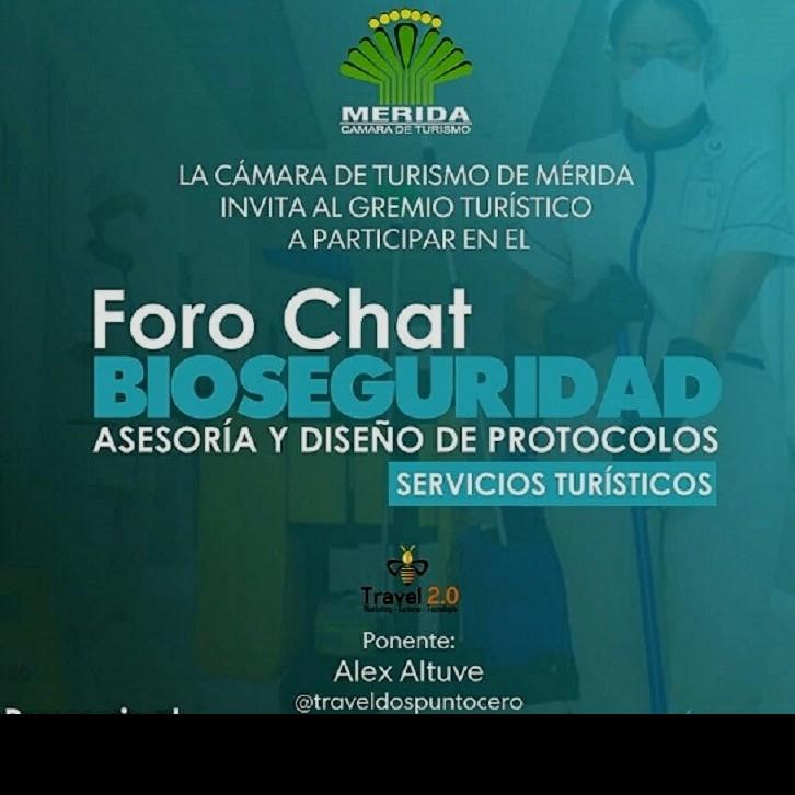 Diario Frontera, Frontera Digital,  CÁMARA DE TURISMO DEL ESTADO MÉRIDA, Regionales, ,Protocolos de higiene y seguridad en Foro Chat CATUREM