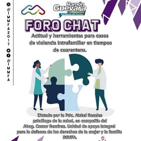 Diario Frontera, Frontera Digital,  FOROCHAT, GOBIERNO DE MÉRIDA, IMMFA, Regionales, ,El Immfa ofrece herramientas  para atender casos de violencia intrafamiliar