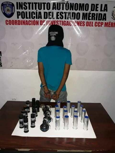 Diario Frontera, Frontera Digital,  DETENIDO, Sucesos, ,JOVEN DETENIDO CON BOMBAS LACRIMÓGENAS  Y CARTUCHOS LACRIMÓGENOS EN LIBERTADOR