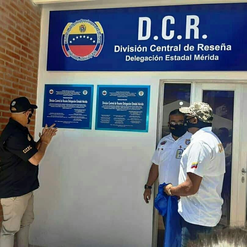 Diario Frontera, Frontera Digital,  CICPC, Sucesos, ,CICPC MÉRIDA INAUGURÓ OFICINA  DE LA DIVISIÓN CENTRAL DE RESEÑAS