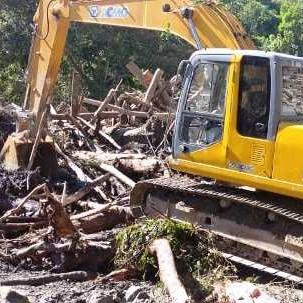 Diario Frontera, Frontera Digital,  CAMPO ELÍAS, CORPOMÉRIDA, Regionales, ,Más de dos mil metros cúbicos de material fueron removidos en sectores afectados por lluvias en Campo Elías