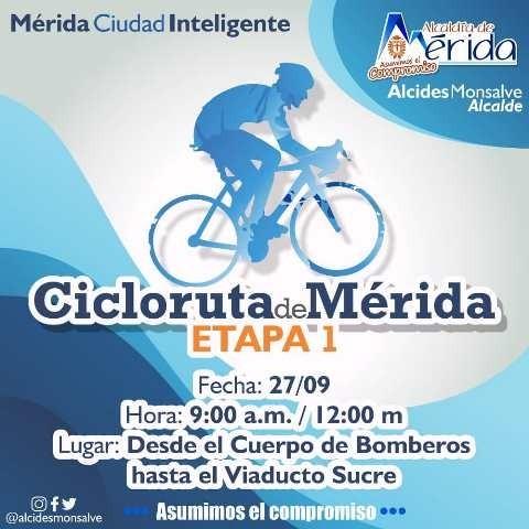 Diario Frontera, Frontera Digital,  CICLORUTA DE MÉRIDA, Regionales, ,Alcides Monsalve: Este domingo inicia la Cicloruta de Mérida