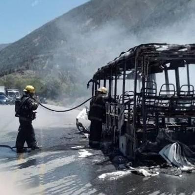 Diario Frontera, Frontera Digital,  UNIDAD, I9NCENDIO, Sucesos, ,Unidad de transporte Vigía- Mérida  se consumió en llamas por desperfecto eléctrico