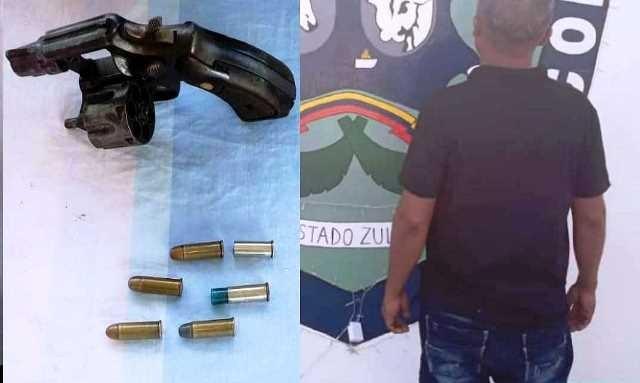 Diario Frontera, Frontera Digital,  POLICÍA DEL ZULIA, Sucesos, ,POLICÍA DE COLON DEL ZULIA  APREHENDIÓ A CIUDADANO TRAS INCAUTARLE  UN  ARMA DE  FUEGO