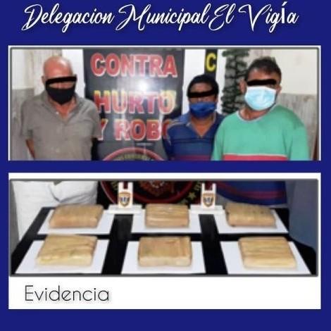 Diario Frontera, Frontera Digital,  DROGA, CICPC, Sucesos, ,CICPC EL VIGÍA APREHENDIÓ A TRES CIUDADANOS  CON SEIS PANELAS DE PRESUNTA DROGA