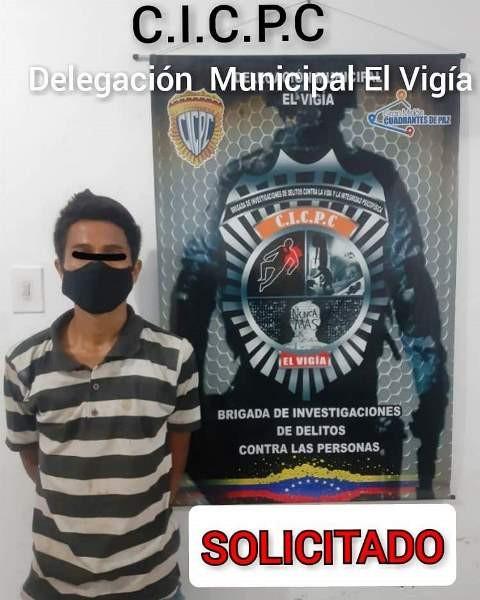 Diario Frontera, Frontera Digital,  CAPTURADO, Sucesos, ,CICPC EL  VIGÍA  CAPTURÓ  JOVEN  SOLICITADO POR VIOLENCIA DOMÉSTICA EN ALBERTO  ADRIANI