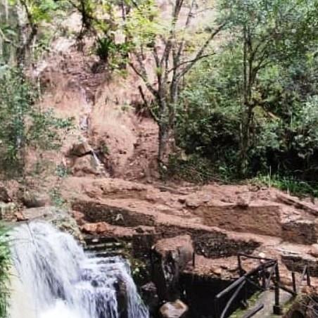 Diario Frontera, Frontera Digital,  CHORROS DE MILLA, Regionales, ,Caminerías del Parque Zoológico Chorros de Milla  fueron afectadas por derrumbes