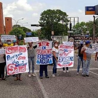 Diario Frontera, Frontera Digital,  FRNETE AMPLIO EL VIGÍA, PROTESTA POR FALTA DE AGUA., Panamericana, ,FRENTE AMPLIO EN ALBERTO ADRIANI PROTESTÓ  Y TRANCÓ LA BOLÍVAR POR PÉSIMOS SERVICIOS PÚBLICOS