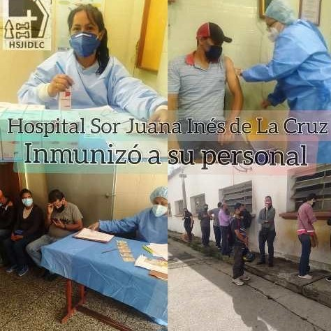 Diario Frontera, Frontera Digital,  SOR JUANA INÉS DE LA CRUZ, Salud, ,Personal del hospital Sor Juana Inés fue vacunado