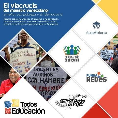 Diario Frontera, Frontera Digital,  TODOS POR LA EDUCACIÓN, Nacionales, ,Todos Por la Educación presentó el viacrucis que viven docentes venezolanos
