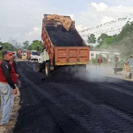 Diario Frontera, Frontera Digital,  ASFALTADO, MUNICIPIO TULIO FEBRES CORDERO, Panamericana, ,Gobierno Bolivariano inicia reasfaltado  de la T-001 con más de 85 toneladas de material