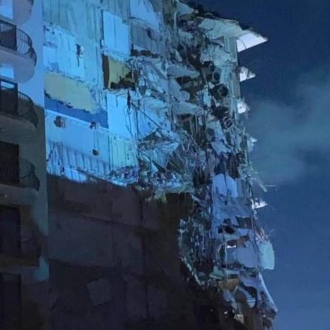 Diario Frontera, Frontera Digital,  MIAMI, Internacionales, ,Se derrumba edificio en Surfside, al norte de Miami Beach Cientos de rescatistas en la escena