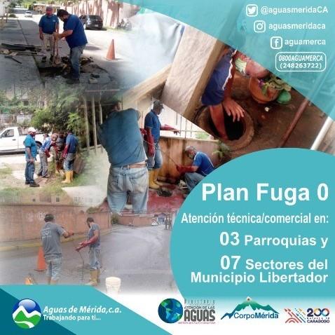 Diario Frontera, Frontera Digital,  AGUAS DE MÉRIDA, Regionales, ,Aguas de Mérida C.A mantiene  despliegue del Plan Fuga 0 en el mpio. Libertador