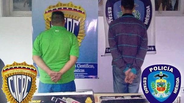 http://fronteradigital.com.ve/POLIMERIDA Y CICPC MÉRIDA CAPTURARON  A DOS CIUDADANOS POR HURTO EN LIBERTADOR