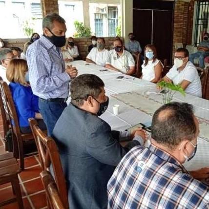 Diario Frontera, Frontera Digital,  ASODEGAA, RAMÓN GUEVARA JAIMES, Panamericana, ,Ramón Guevara participó en encuentro con fuerzas vivas de Alberto Adriani