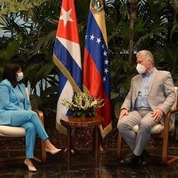 Diario Frontera, Frontera Digital,  DELCY RODRÍGUEZ, Nacionales, ,Delcy Rodríguez voló a La Habana  para reunirse con Miguel Díaz-Canel