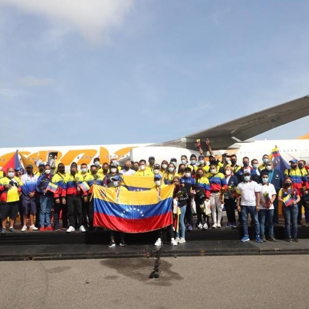 Diario Frontera, Frontera Digital,  CONVIASA, Nacionales, ,Arribó al país delegación venezolana que participó en los JJOO Tokio 2020