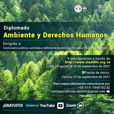 Diario Frontera, Frontera Digital,  ODH-ULA, Regionales, ,ODH-ULA abre inscripciones para Diplomado en Ambiente y Derechos Humanos