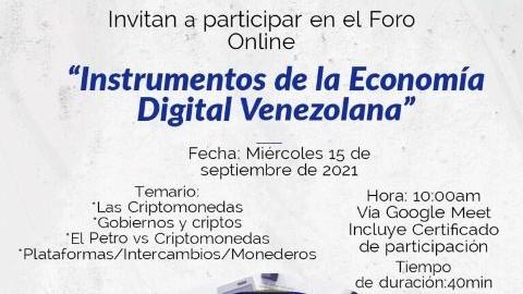 """http://fronteradigital.com.ve/Fundacite Mérida dictará foro virtual sobre  """"Instrumentos de la Economía Digital Venezolana"""""""