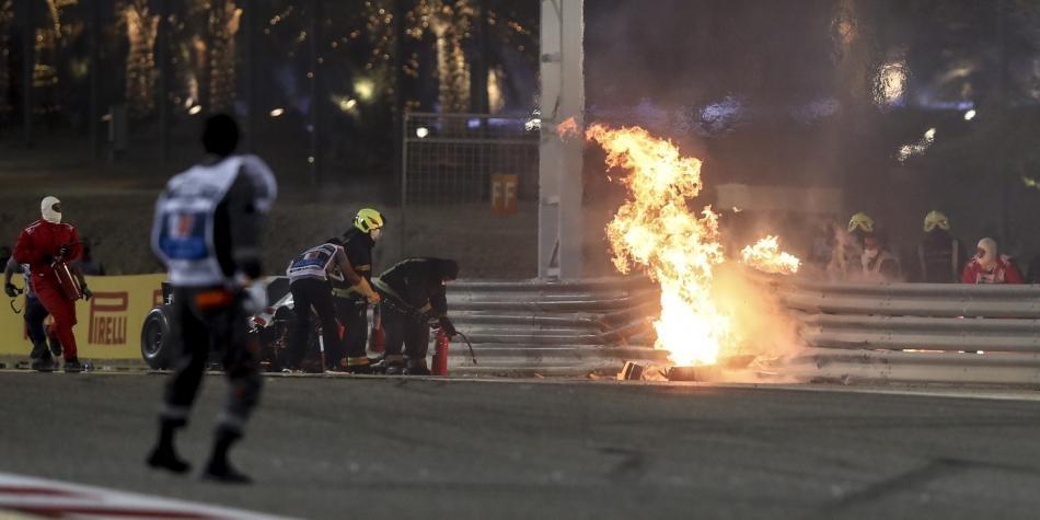 Diario Frontera, Frontera Digital,  F1, Grosjean, Deportes, ,¡Terrible accidente en la F1!  El carro de Grosjean terminó en llamas