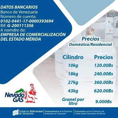 Diario Frontera, Frontera Digital,  NEVADO GAS PRECIOS, Nacionales, ,Nevado Gas mantiene el precio del gas doméstico residencial en Mérida