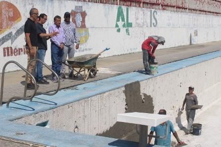 Diario Frontera, Frontera Digital,  PISCINA DON LUIS, Deportes, ,Avanzan trabajos de rehabilitación  en piscina olímpica de la Urb. Don Luis