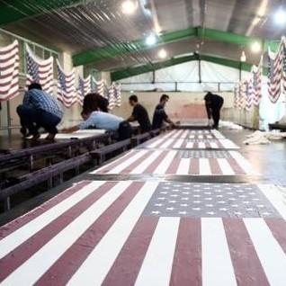 Diario Frontera, Frontera Digital,  FÁBRICA DE BANDERAS, Internacionales, ,Una fábrica iraní produce miles de banderas de EE.UU.  e Israel para que las quemen los manifestantes