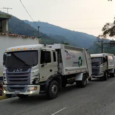 Diario Frontera, Frontera Digital,  ALCALDÍA DE LIBERTADOR, COMPACTADORES, Mocoties, ,Camiones compactadores de la Alcaldía de Mérida en labor solidaria