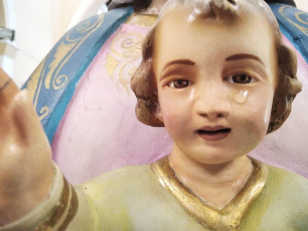 Diario Frontera, Frontera Digital,  NIÑO JESÚS, MANIFESTACIÓN DIVINA, TOVAR, Mocoties, ,Manifestación divina en Tovar: una lágrima  fue hallada en la imagen del niño Jesús de la Virgen de Regla