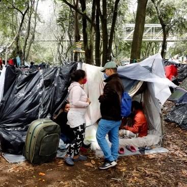 Diario Frontera, Frontera Digital,  CAMPAMENTO DE VARADOS ERN BOGOTÁ, Internacionales, ,Venezolanos varados en vía de Bogotá  piden ayuda para retornar a su país